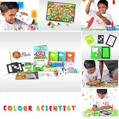 Kids subscription box - Flinto's Colour Scientist