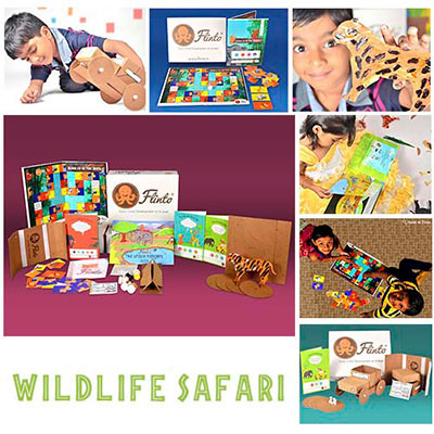 Kids subscription box - Flinto's Wildlife Safari