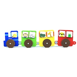 Flintobox Little Transporter - Jolly Train Ride